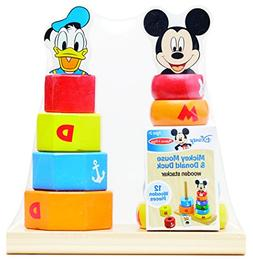 Melissa & Doug Disney Baby Mickey Mouse and Donald Duck Wood