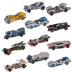 Hot Wheels (Set of 12 Disney Star Wars Carships Toys Set Sta