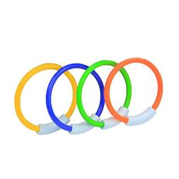 WOTOW Dive Rings, 4 Piece Plastic Diving Rings Underwater Sw