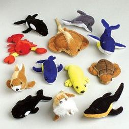 Dozen Assorted Stuffed Plush Sea Animal Toys