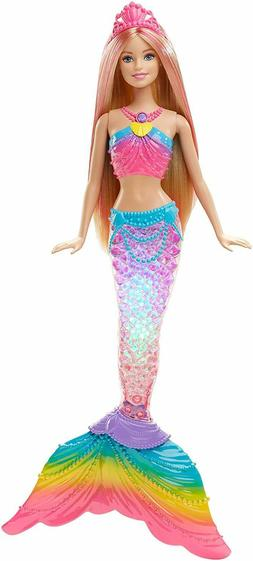 Barbie Dreamtopia Rainbow Lights Mermaid Doll, Blonde free s