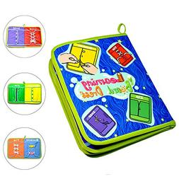 SETmell Early Learning Basic Life Skills Toys Quiet Book,Mon