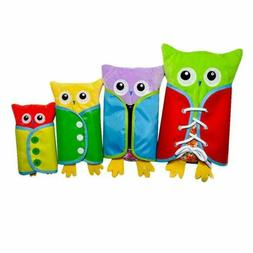 Early Learning Basic Life Skills Kids 4pcs Owl Dress Boards-