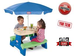 Little Tikes Easy Store Jr. Play Table With Umbrella Bench P