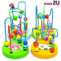 Educational Baby Kids Wooden Around Beads Toddler Infant Int