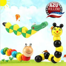 Educational Puzzles Wooden Twisted Toys Kids Child Creative