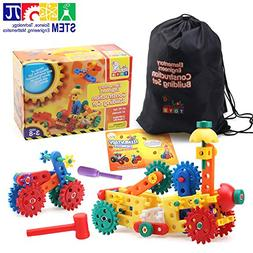 Engineering Construction Toy Set | 62 PC Gear and Building B