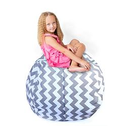 Storage Bean Bag Chair: 38-Inch Space Saver to Store Soft or