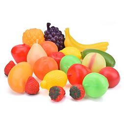 Play Food Set for Kid Kitchen Toys Food and Fruits Pretend P