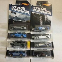Fast & Furious * 8 Car Set * 2017 Hot Wheels Walmart Set
