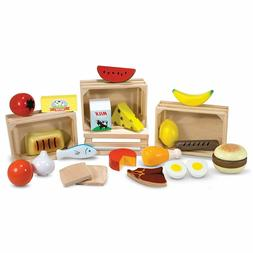 🚛Fast Shipping! {New} Melissa & Doug Wooden Play Food & C