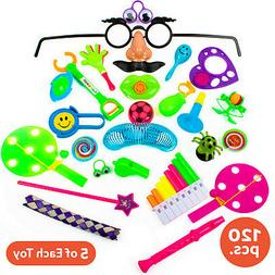 120 Pc Party Favor Toys For Kids - Bulk Party Favors For Boy