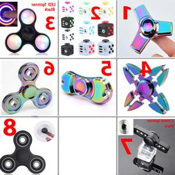Fidget Spinner Tri Hand Cube Finger Kid Toys Rainbow Stress