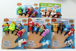Finger Puppets Bath Toys Set of 5 Puppets