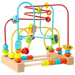 Timy First Bead Maze Roller Coaster Wooden Educational Circl