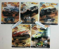 Flash SALE!  5 Car Set * 2019 Hot Wheels DESERT RALLY Car Cu