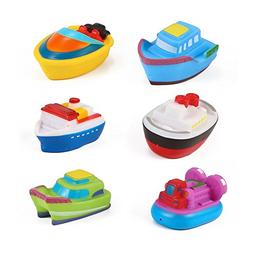 Floating Boat Tub Toys - Rubber Bath Squirters for Baby