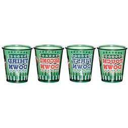 Amscan 469856 Football Set Shot Glass, 2 oz, Multicolor
