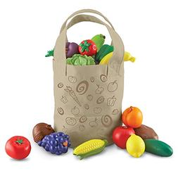 Learning Resources Fresh Picked Fruit And Veggie Tote, 17 Pi