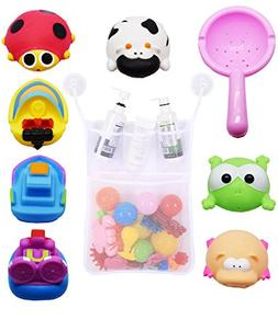 Baby Bath Toys with Fast-Dry Mesh Organizer And Two Super Su