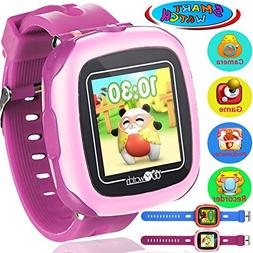 Qiekenao Kids Game Smart Watch - Best Kids Smartwatch with C