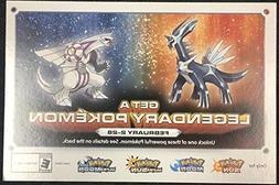 Gamestop Palkia and Dialga Code Pokemon Sun/Moon and Ultra S