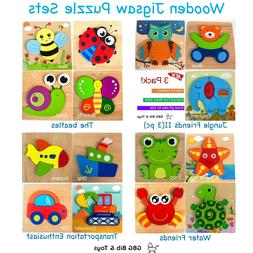 GBG Bib & Toys Wooden Jigsaw Puzzles for Toddlers, early edu