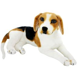 Jesonn Giant Realistic Stuffed Animals Beagle Dog Plush Toys
