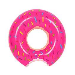 HOMEJU Gigantic Donut Pool Float,Funny Inflatable Vinyl Summ