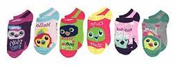 Girls Hatchimals 6 Pack Low Cut Socks