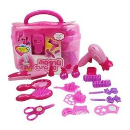 Girls Beauty Hair Toy Set Toys Simulation Cosmetic Bag Plast