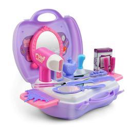 Girls Make Up Case Cosmetic Set Pretend Play Kids Dress-Up T