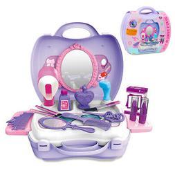 Girls Makeup Cosmetic Table Model Set Preschool Toys Pretend