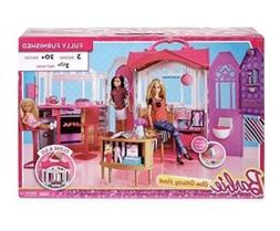 Barbie Glam Getaway House Dollhouse Play Set 20+ Pieces