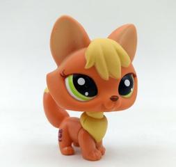 Green Eyes #1028 Orange Yellow Creme Fox Littlest Pet Shop L