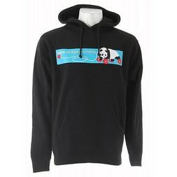 Enjoi GROWN UP TOY PULLOVER Black Blue Red Panda Hooded Men'