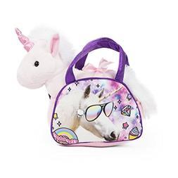 Delia's Girl Unicorn Handbag with Plush Unicorn