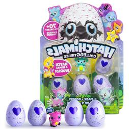 Hatchable Hatchimals 4 Eggs Bonus Figures Glittery Wings Col