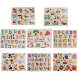 HOT Alphabet Numbers Peg Puzzles Baby Toddler Preschool Educ