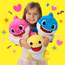 hot us baby shark plush singing toys