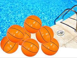 Playo Inflatable Basketballs - 16 inch Beach Balls - 1 Dozen