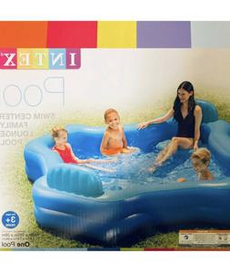 "Intex Inflatable Family Lounge Pool 2 Seat Swim Center 105"""