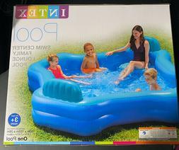 "Intex Inflatable Swim Center Family Lounge Pool 105"" x 105"""