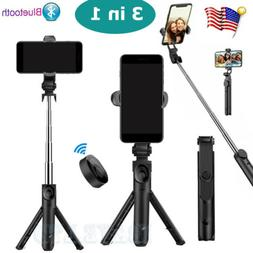 Extendable Selfie Stick Monopod Tripod +Remote Shutter For i