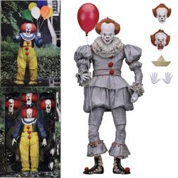 "IT 7"" Scale Action Figure Ultimate Pennywise Clown 1990 2017"