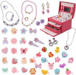 DRESS 2 PLAY Jewelry + Jewelry Box for Girls - 34 Piece Pret