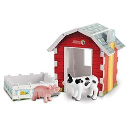 Learning Resources Jumbo Farm Animals and Barn Toy Play Set,