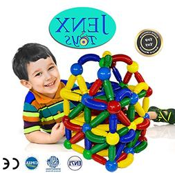 Jenx Toys Jumbo 60 PCS Magnetic Rods and Balls Building Bloc