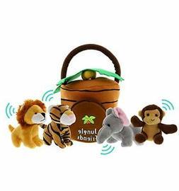 Jungle Animals Talking Plush Baby Toy – 5 Piece Small Stuf