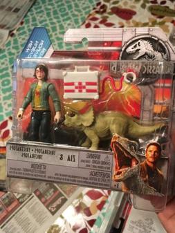 Mattel Jurassic World Fallen Kingdom 2018 Zia With Tricerato